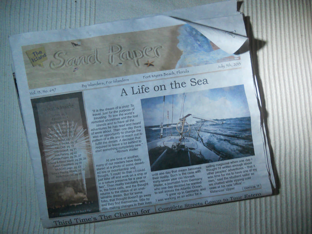 A Life on the Sea - Artikel im Island Sand Paper